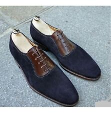 Men Spectator Shoes, Two Tone Formal Shoes, Brown And Blue Shoes