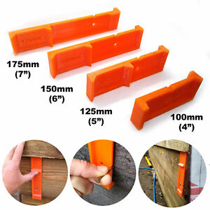 Feather Edge Close Board Cladding Fencing Spacer Tool 100mm 125mm 150mm 175mm