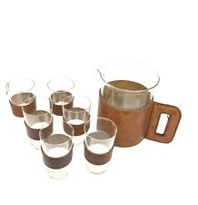 Carl Auböck Carl Auboeck design glass jug with 6 glasses set c. 1950