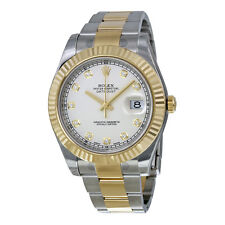 Rolex Datejust II Ivory Diamond Dial Stainless Steel With 18kt Yellow Gold Mens