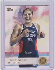 2012 TOPPS OLYMPIC SARAH GROFF TRIATHLON GOLD CARD #72 ~ MULTIPLES