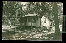 1940's RPPC Cottage #3 at Brooks Resort on Leech Lake Walker MN   B1075