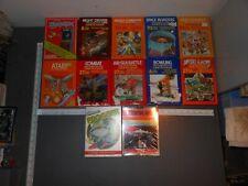 Lot of 12 Vintage Classic Atari Video Games w/Original Boxes and Manuals