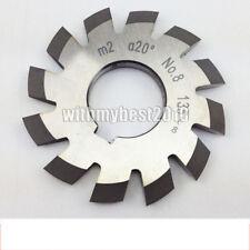 Lot 1pcs HSS M2 20 degree #7 Cutting Range 55-134 Teeth Involute Gear Cutter