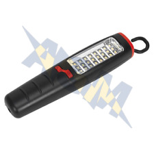 Sealey LED307 24SMD+7 LED Rechargeable Torch Lantern Hand Lamp Inspection Light
