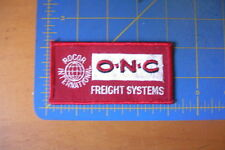 O-N-C FREIGHT SYSTEMS TRUCKING SEMI TRUCKS RARE EMBROIDERED PATCH