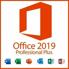 Microsoft Office 2019 Professional plus Retail KEY CARD   PC ONLY   1 USER