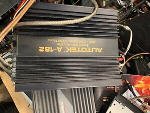 Old School Autotek A-182 2 channel  Car Amplifier great woking condition