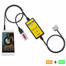 Car USB Interface MP3 Player AUX In Adapter For Highlander Previa Lexus 5+7 Pin