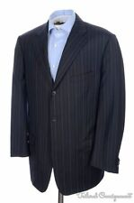 CORNELIANI Recent Blue Striped 100% Wool Jacket Pants SUIT - EU 54  / US 44 L