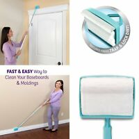 Baseboard Buddy Extendable Microfiber Cleaning Mop Brush Simply Cleaner for Home