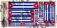 Diorama/Model Accessory - Cuban Flag - 1/72, 1/48, 1/32, 1/35 Scales