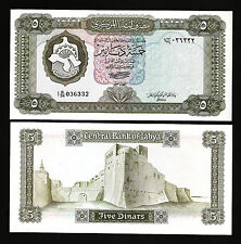 LIBYA 5 DINAR 1972 UNC P.36B HIGH CATALOG VALUE : 125$