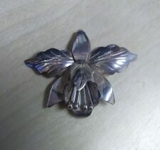 Sterling Silver Orchid Pin (#P-19)