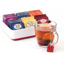 Joie Tea Storage Chest Box, 6 Compartments, Holds 60 Tea Bags, Assorted Colors