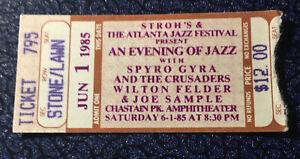 Spyro Gyra Concert Ticket Stub 6-1-85