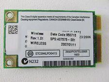 407575-001 HP nc6300 Business Notebook 802.11a/b/g Mini-PCI WiFi Card WM3945ABG