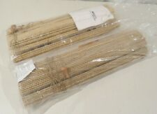 "Lot of 2 Woven Natural Window Shade, 22.5 x 72"", unused, no hardware"