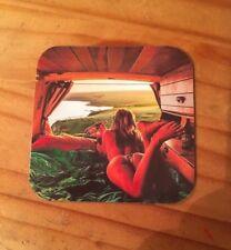 VW Beatle Van Fab Fridge Magnet Coaster