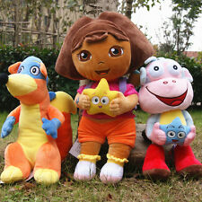 3pcs/set Dora The Explorer Swiper Fox Boots The Monkey Plush Toy Soft Doll Teddy