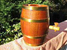"Vintage Novelty Wooden Beer Keg 8 1/2"" Length~Made in Romania"