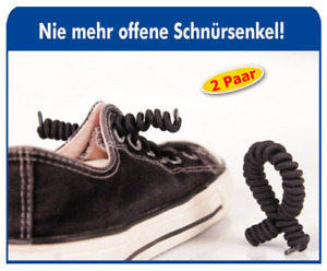 2 x Schnürsenkel Schuhband selbstschließend elastisch braun Senioren Schnürband