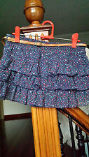 Mini falda volantes azul marino Bershka // Bershka ruffled navy skirt