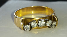 ETERNITY RING , GOLD ,18 CT ,3.77GRAMS ,5 DIAMONDS ,heavily reduced  price,cert
