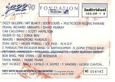 RARE / TICKET DE CONCERT - JAZZ : STAN GETZ LIVE A VIENNE ( FRANCE ) 1990