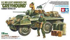Tamiya 25196 1/35 Scale Model Kit WWII U.S M8 Greyhound Armored Car Patrol Set
