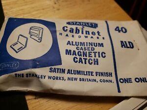 Vintage Stanley Cabinet Hardware Door Magnetic Catch 40 ALD. New Britain, CT.