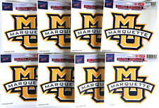 """Lot of 8 Officially Licensed 5 1/2"""" x 4 1/4"""" Ultra Decals MARQUETTE Golden Eagle"""