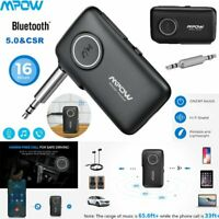 Mpow CSR Bluetooth V5.0 AUX Audio Car Receiver Adapter 3.5mm Home Stereo Music