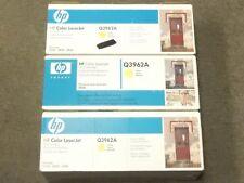 HP Q3962A 122A Yellow Toner Cartridge LJ 2840 Genuine New Open Box Lot Of 3