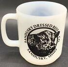 Vintage Glasbake Advertising Mug Sandusky Dressed Beef Co. Sandusky, Ohio 10oz