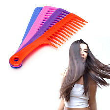 Hairdressing Salon Wide Tooth Handle Anti-static Plastic Hair Comb Detangling
