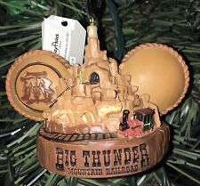 Disney Big Thunder Mountain Railroad Mickey Ear Hat Ornament