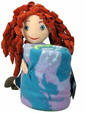 Brave Princess Merida Hugger Stuffed Doll Pillow Blanket Throw Blanket NEW Combo