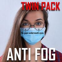 ANTI FOG CLIP | Face Mask Glasses Clip Nose Bridge | TWIN PACK | FREE ROYAL MAIL