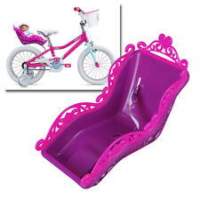 """Bikecorp Toy Doll Seat Carrier for 12""""/16"""" Kids Bicycle - Purple Pink"""