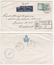 1964 CANADA Registered Air Mail Cover TORONTO to LONDON Royal Canadian Air Force