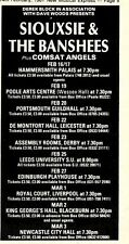 14/2/81PGN05 ADVERT: SIOUXSIE & THE BANSHEES LIVE TOUR DATES FEB/MAR81 6X3