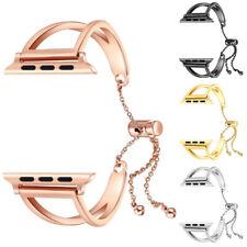 Women Watch Band Stainless Steel 42mm Bracelet Cuff Tassel for Apple Watch
