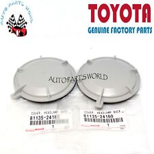 GENUINE TOYOTA LEXUS 4RUNNER GX460 RX450h LX570 HEADLIGHT BACK COVER SET OF 2