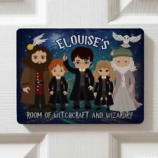 Personalised Harry Potter Children's Bedroom Door Kids Name Sign Plaque DPE1
