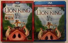 DISNEY THE LION KING 1 1/2 BLU RAY DVD 2 DISC + SLIPCOVER SLEEVE FREE SHIPPING