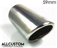 EMBOUT CHROME CANULE SORTIE ECHAPPEMENT TUBE pour AUDI A1 A3 A4 A6 Diamètre 59mm