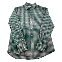 Old Navy Button Up Shirt Mens Long Sleeve Small Green Regular Fit Plaid Casual