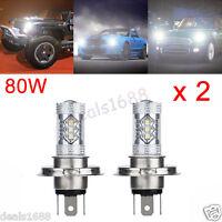 2X H4 80W CREE LED Fog DRL Driving Car Head Light Lamp Bulbs White Super Bright