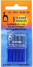 Pony Universal Leather Machine Sewing Needles - per pack of 5 (P51011)